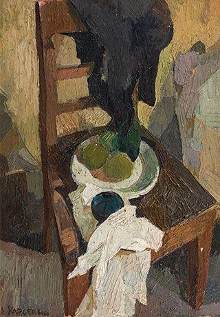 Alfred Karger * (Odorheiu Secuiesc (Rumänien) 1925-1978 Wien) Stillleben mit Stuhl, 1949