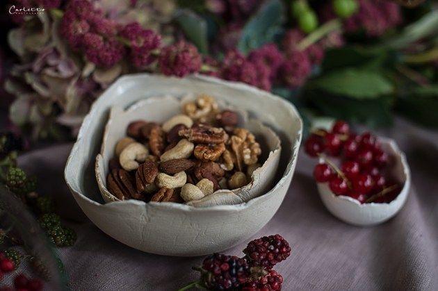 Herbst, violett, pruple decoration, fall, floral deoration, fall decor, floral garland, nuts, Herbstfrüchte
