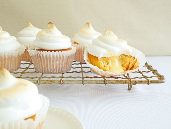 Lemon cake with delicious lemon curd and meringue.