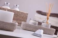 Ablagekörbe in verschiedenen Größen, werten jedes Badezimmer auf.
