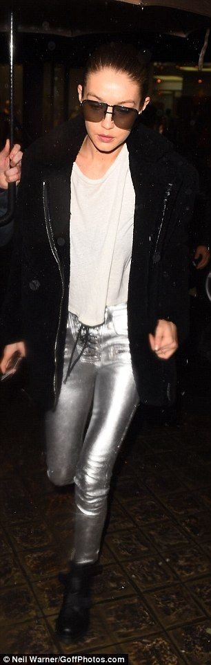 Shine in silver trousers by Unravel this season. Click 'Visit' to buy now. #DailyMail