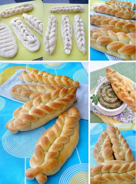 cant read anything on the page (no Idea what language it is either, maybe greek?) but just found an awesome way to make bread look awesome!
