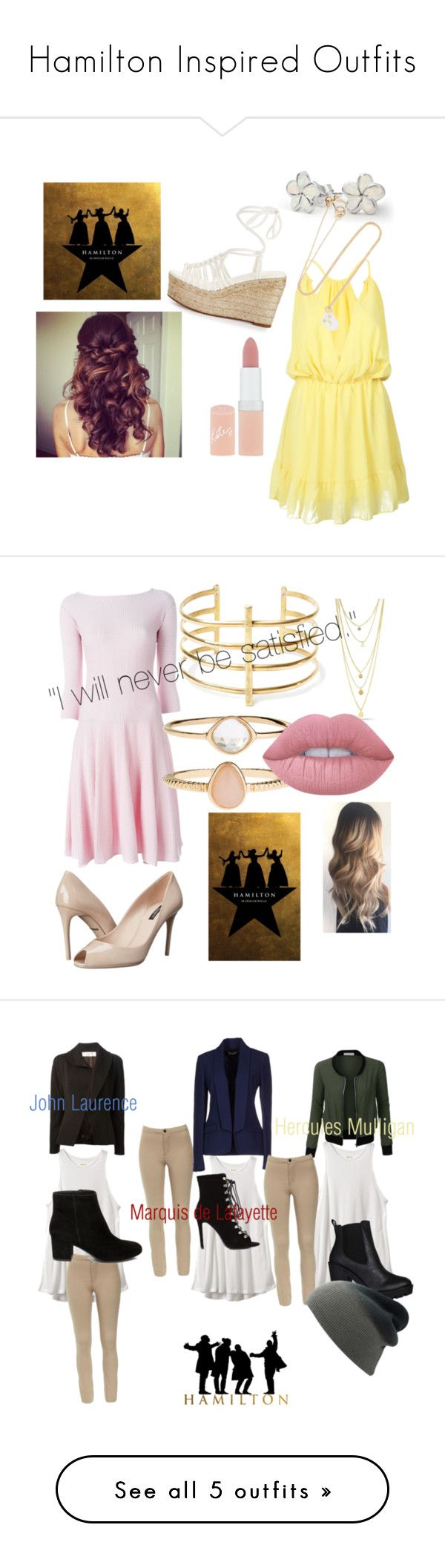 """Hamilton Inspired Outfits"" by diazd6879 ❤ liked on Polyvore featuring WithChic, Bling Jewelry, Sophie Bille Brahe, Chloé, Rimmel, Emporio Armani, Dolce&Gabbana, BauXo, Accessorize and Lime Crime"