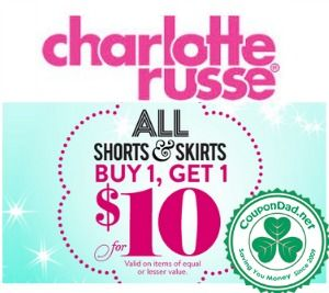 Charlotte Russe promo codes & deals: http://www.coupondad.net/charlotte-russe-promo-code/
