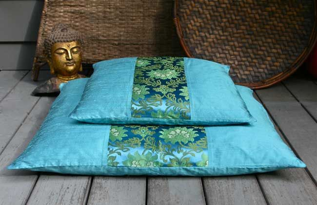 Good Karma Silk Zafu and Zabuton cushions are ideal for the serious meditator or to enhance your home decor.