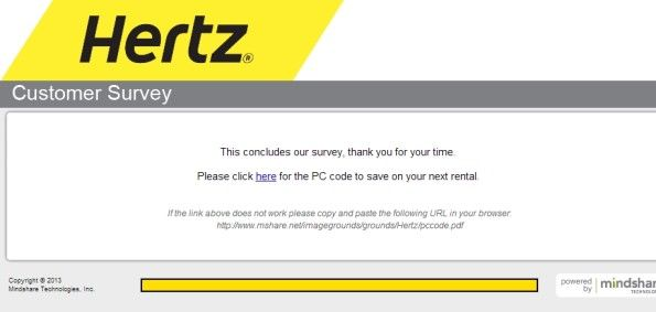 Hertz Customer Satisfaction Survey WwwHertzsurveyCom  Customer