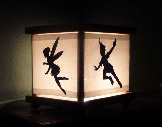 Peter Pan Nursery Nightlight Night Light Lamp Captain Hook Tinker Bell Crocodile Shower Baby