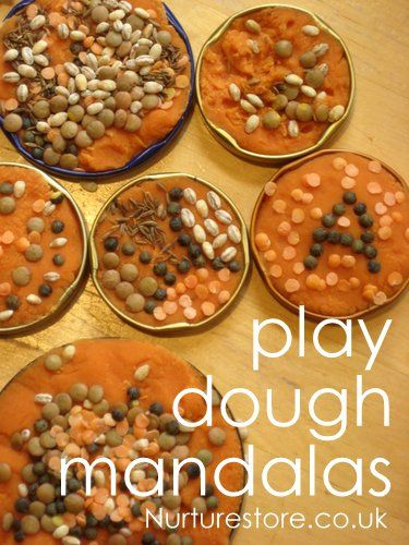 play dough activities: sensory play: rangoli mandalas