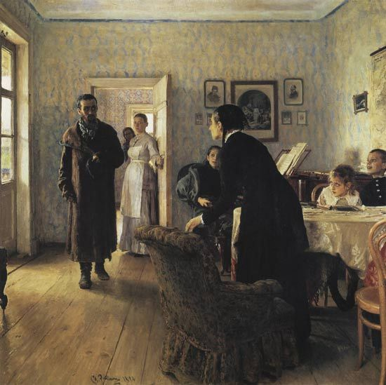 """Ilya Repin. """"They Did Not Expect Him"""""""