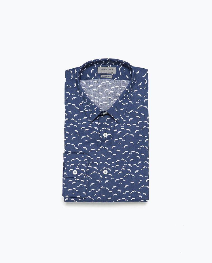 Dolphin print shirt-Print-Shirts-MAN-SALE | ZARA United States