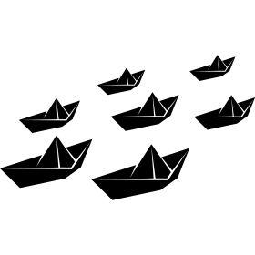 Papier-Schiffsflotte
