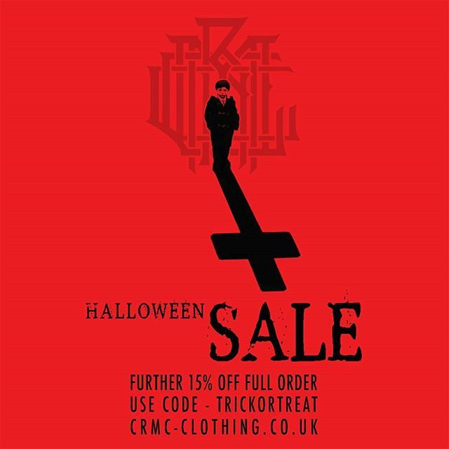 FURTHER REDUCTIONS  HALLOWEEN/PRE-DROP SALE at www.crmc-clothing.co.uk USE DISCOUNT CODE - TRICKORTREAT  Offer ends at dawn on Nov 1st #halloween #instahalloween #halloween2016 #alt #altfashion #altstyle #alternative #lovewearingblack #fashionstatement #wearblack #fashionista #blackwear #death #omen #want #need #grungefashion #grunge #goth #style #alternativeguy #alternativeboy #alternativegirl #alternativeteen #theomen #metalhead #streetwear #love #antichrist #ilovewearingblack