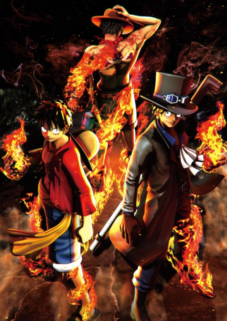 One Piece: Burning Blood - Monkey D. Luffy, Portgas D. Ace, Sabo