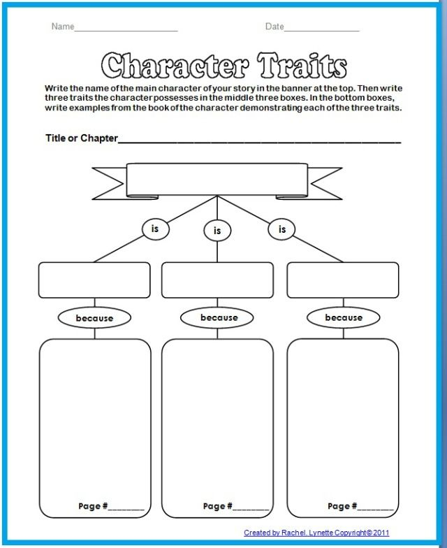 character+traits+graphic+organizer
