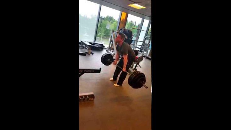 Deadlift/Markløft: 190 kg x 1 rep. No belt. Andre Gangvik