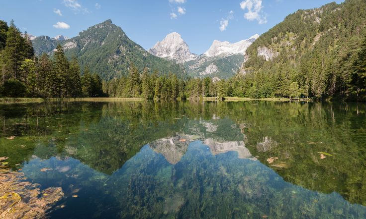 Reflections ... am Schiederweiher mit dem Toten Gebirge im Hintergrund