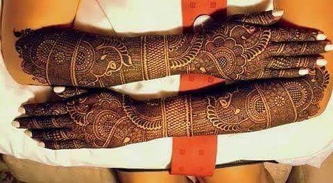 Mehndi design for bridal