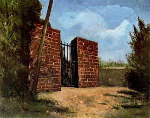 Carlo Carrà - Il cancello