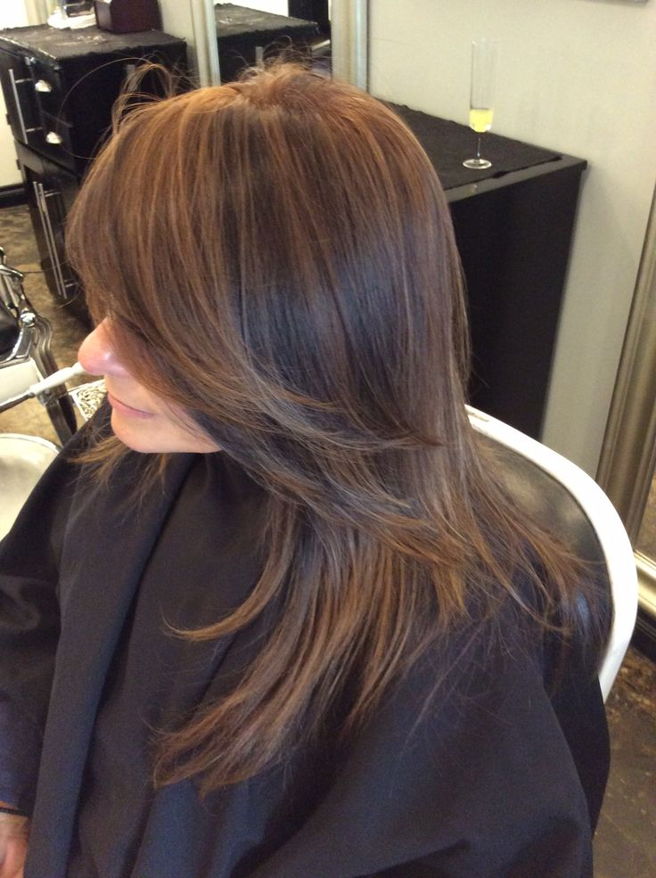 Mocha Brown and Dark Brown Highlights Matrix M BC LizaBabeHair  LizaBabeHair  Hair Hair