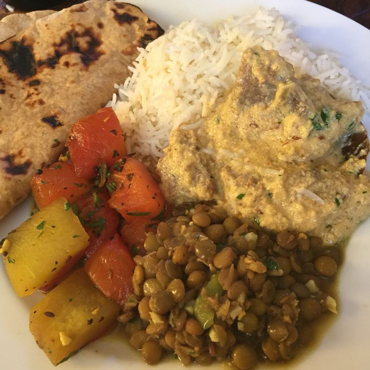 roti lentils lamb curry almonds forward lentils roti stir fried ...