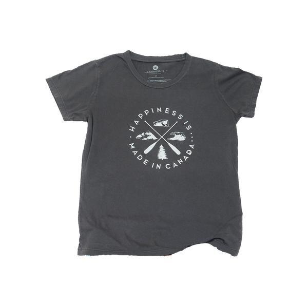 Crest Youth T-Shirt, Vintage Black