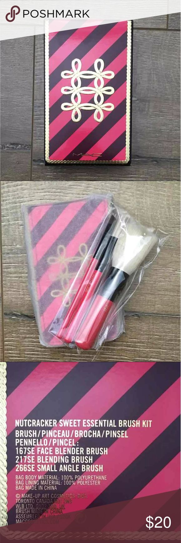 Brand New MAC Nutcracker Travel Brush Kit Brand new, never opened/used MAC Nutcracker kit MAC Cosmetics Makeup Brushes & Tools