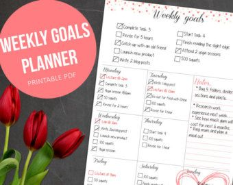 Weekly Planner PRINTABLE planne pages  Weekly Organizer // A4