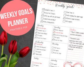 Weekly Planner Printable Weekly Organizer // A4 by EasyPeasyPaper