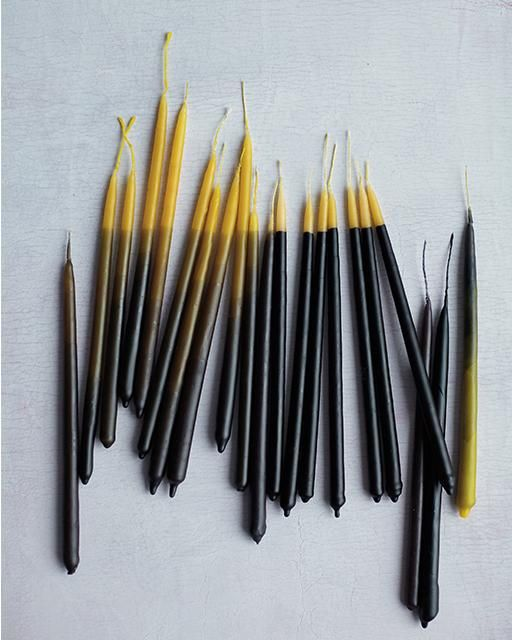 Dietlind Wolf's Hand Dipped Beeswax Candles via Sweet Paul -- perfect for your Thanksgiving table!