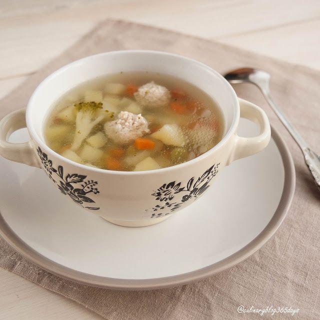 Кулинарный блог 365 дней: Суп с фрикадельками и брокколи