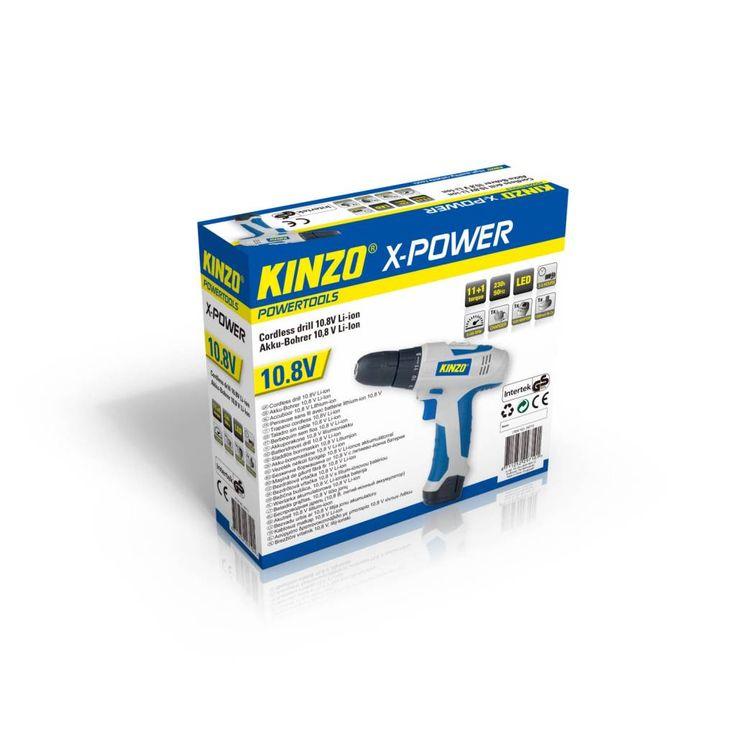 Kinzo X-power Li-ion accuboormachine 10.8V #kinzo #accuboormachine #xpower #gereedschap