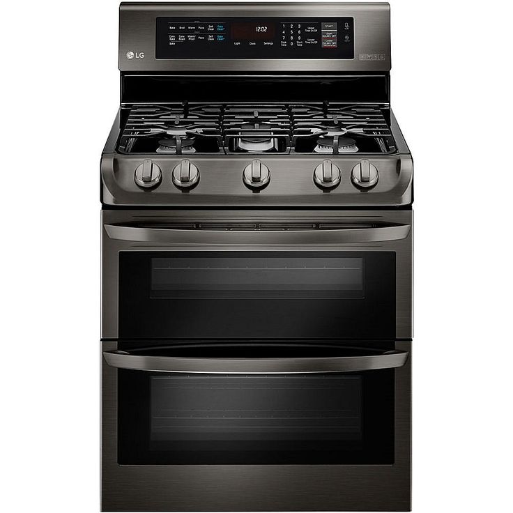 LG 6.9 Cu. Ft. Freestanding Gas Double Oven with Griddle Plate - Stainless Steel