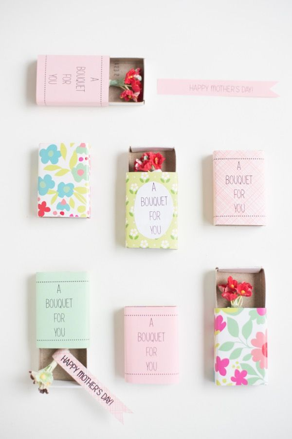 Matchbox Bouquets for Mother's Day! #DIY