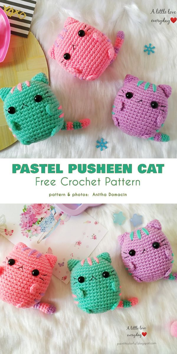 Tiny Pusheen Cat Free Crochet Patterns