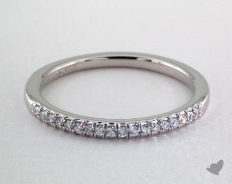 Platinum Matching Pave Wedding Ring - her wedding band