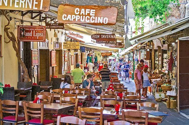 Enjoy the local cafes and tavernas in Rhodes Town or indulge in a spot of shopping