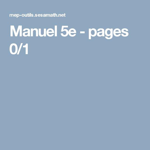 Manuel 5e - pages 0/1