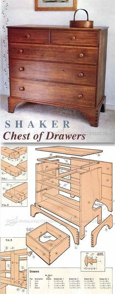 Chaker Chest of Drawers Plans - Furniture Plans and Projects   WoodArchivist.com