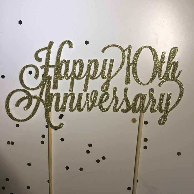 3 x Anniversary Heart Toppers 1 each of Golden,Ruby and Silver