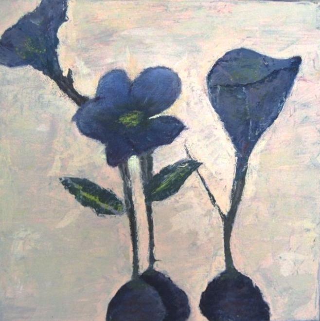 wepaint.dk kursus blå blomster elevmaleri