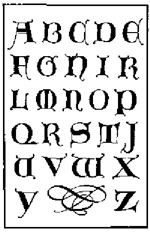 Uncial Gothic Capitals 14th Century Illuminated