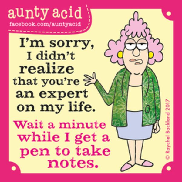 Aunty Acid for 6/30/2017