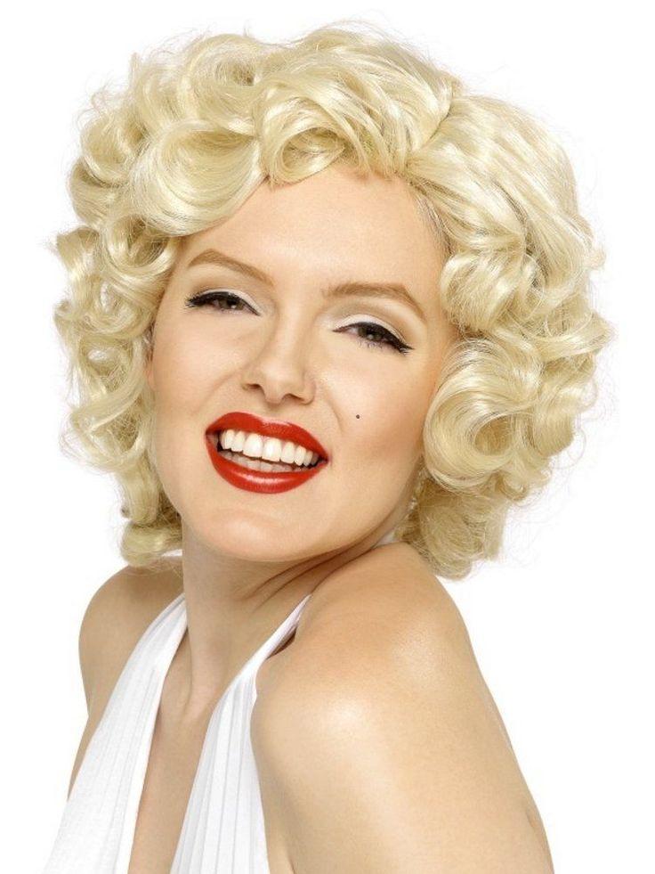 Vaalea Marilyn Monroe. Täydellisen Marilyn-tyylin luot Marilyn-mekolla ja tällä peruukilla, kaiken kruunaa tietenkin punainen huulipuna ja flirttailevat katseet.