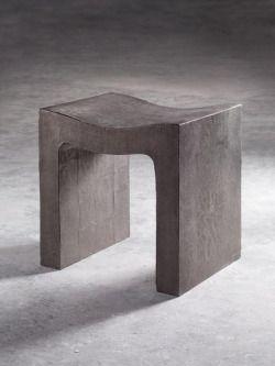 Concrete stool