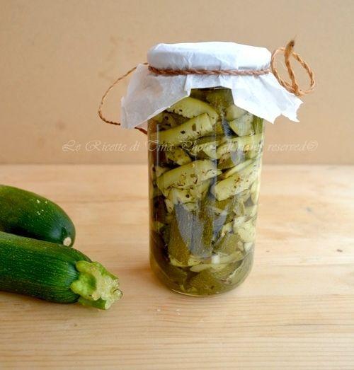 conserva di zucchine