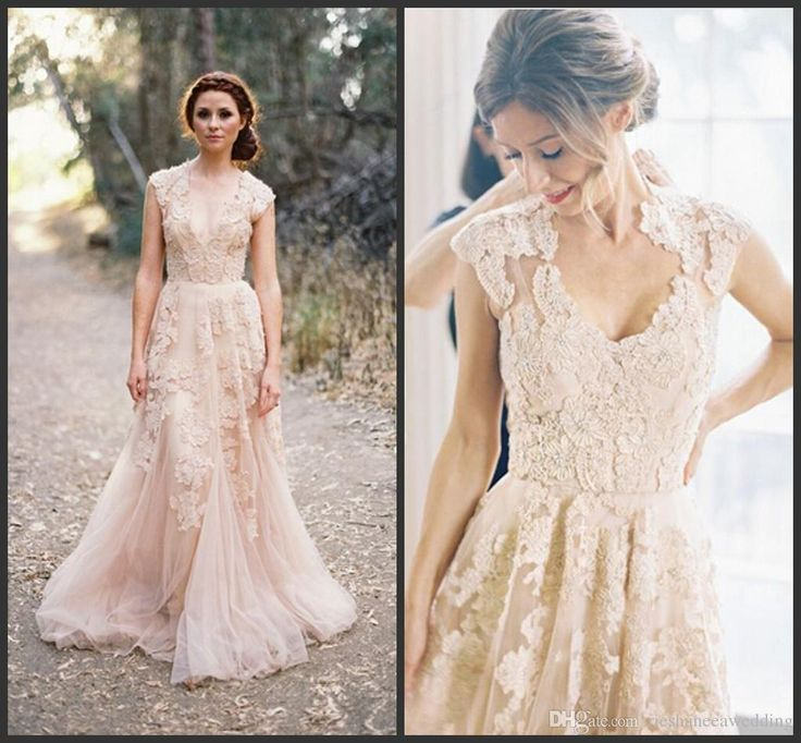 Best 25+ Blush Colored Wedding Dress Ideas On Pinterest