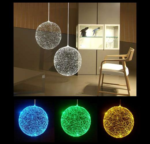 Designed by german artist steffen bauer for crescent lighting the laluna fiber optic lamp connects to a bright halogen which changes color with a turning