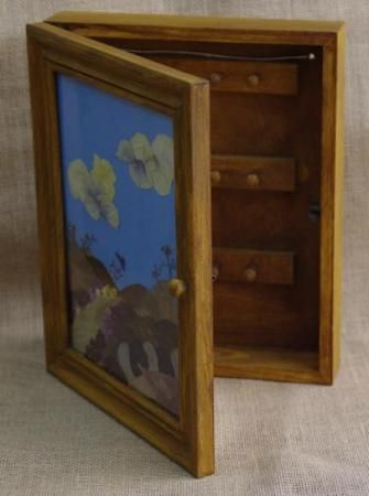 caja para llaves caja para llaves madera,flor natural prensada,cristal prensado,teñido
