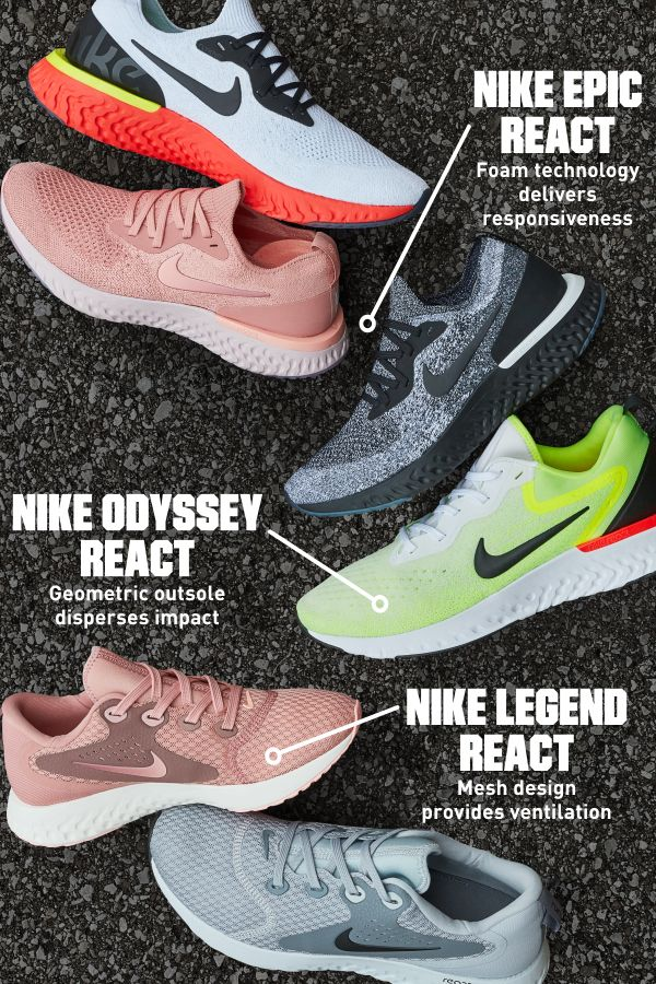 brand new a9dcd b9a47 Crazy comfortable, yet ultra durable. The Nike Epic React, Odyssey React  and Legend