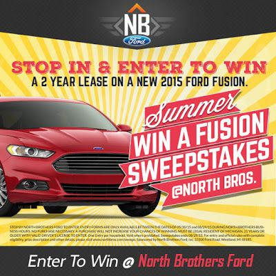 Win a 2-Year Lease on a 2015 Ford Fusion